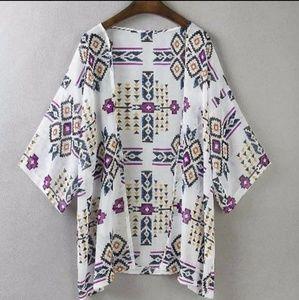 Tops - Aztec Kimono